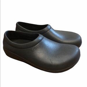 Crocs On-The-Clock Work Mens Slip-Ons (Black) sz11